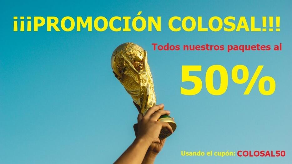 Promoción colosal. Cupón: COLOSAL50