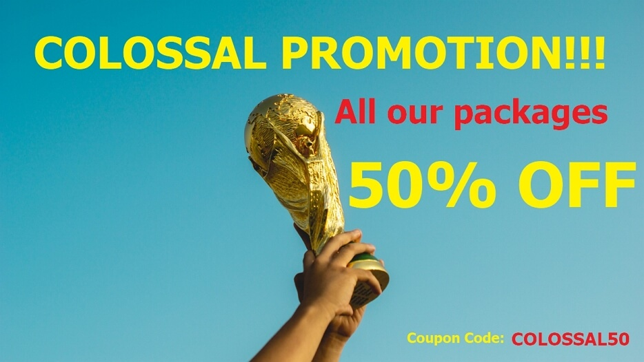 COLOSSAL PROMO!!! Coupon code: COLOSSAL50